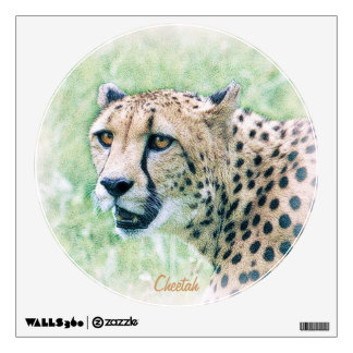 African Cheetah Wildlife Art Wall Decal