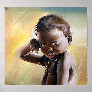 African child Premium Gloss Poster
