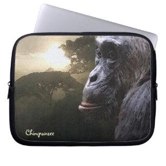 African Chimpanzee & Jungle Wildlife Laptop Sleeve