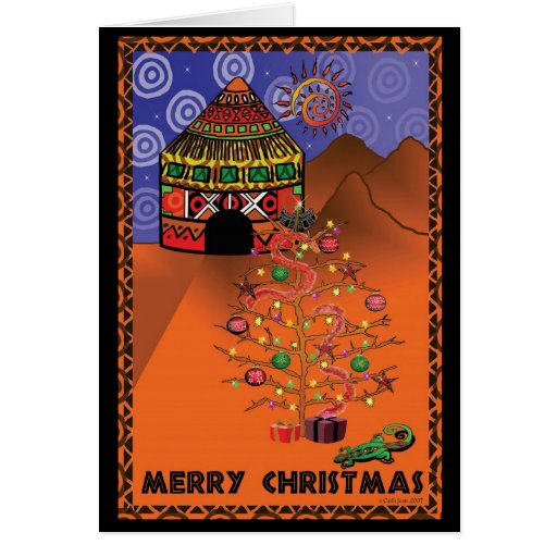 african christmas cards: