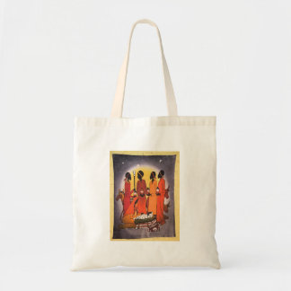 African Christmas Nativity Scene Budget Tote Bag