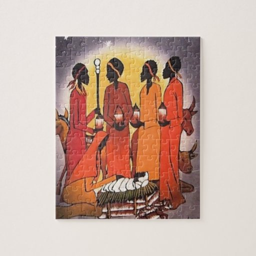 African Christmas Nativity Jigsaw Puzzle