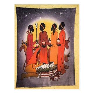 African Christmas Nativity Scene Postcard