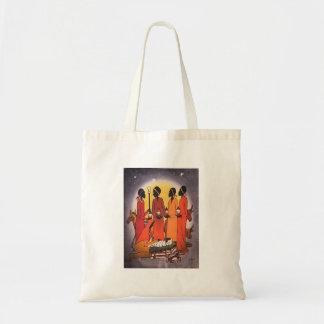 African Christmas Nativity Scene Tote Bag