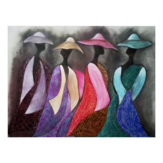 African Church Ladies Poster