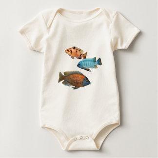 African Cichlids Baby Bodysuit