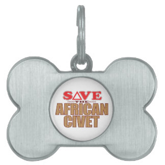 African Civet Save Pet ID Tag