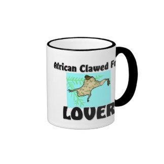 African Clawed Frog Lover Ringer Coffee Mug
