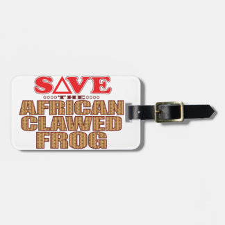 African Clawed Frog Save Luggage Tag