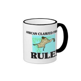 AFRICAN CLAWED FROGS Rule! Ringer Coffee Mug