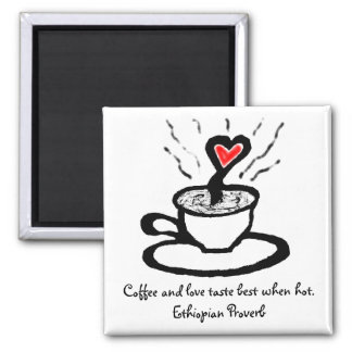 African Coffee Love Quote_Valentines Gift Magnet