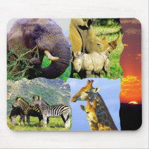 African Collage Mouse Pad
