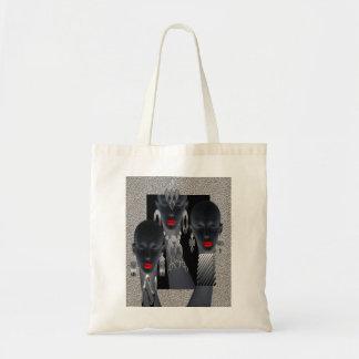 African Concrete Metal Jungle Budget Tote Bag