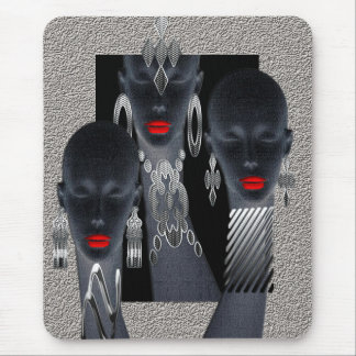 African Concrete Metal Jungle Mouse Pad
