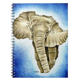 African Continent Spiral Notebook