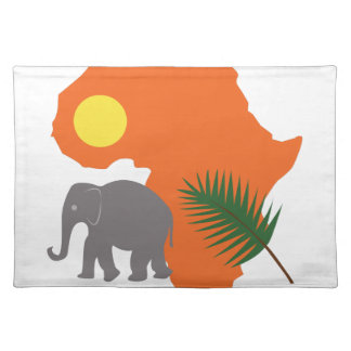 African Continent Cloth Placemat