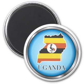 African country buttons fridge magnet