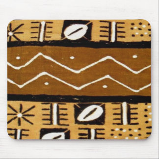 African cowrie shell mud cloth1 mouse pad