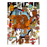 African Cultural Lion Hearted Tribes Postcard