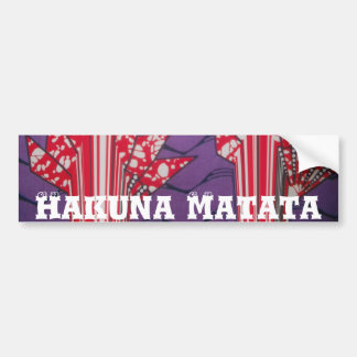 African Customize Product Bumper Sticker