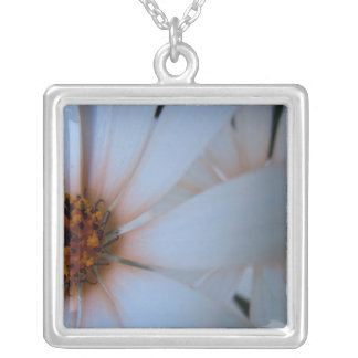 African Daisies I Square Pendant Necklace
