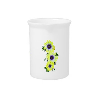 African Daisies Lemon Symphony Drink Pitcher