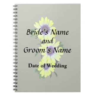 African Daisies Lemon Symphony Wedding Products Notebook
