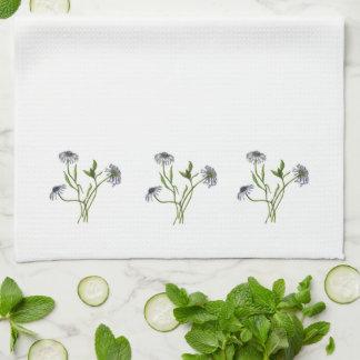 African Daisies (Osteospermum) Towel - Border