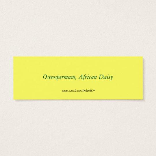 African Daisy Bookmark Mini Business Card