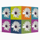 African Daisy Collage 3 Ring Binder