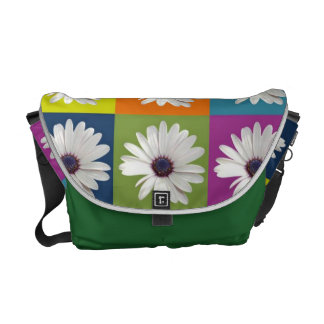 African Daisy Collage Messenger Bag