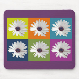 African Daisy Collage Mouse Pad