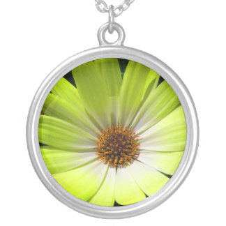 African Daisy Fluorescent Yellow Necklace