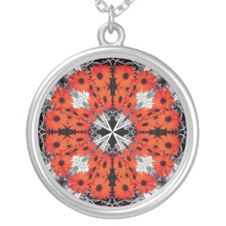 African Daisy Fractal Design Necklace