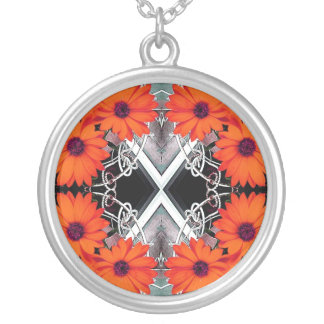 African Daisy Fractal Necklace