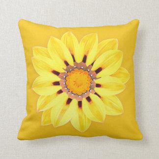 African Daisy / Gazania - Mustard Gold Throw Pillow