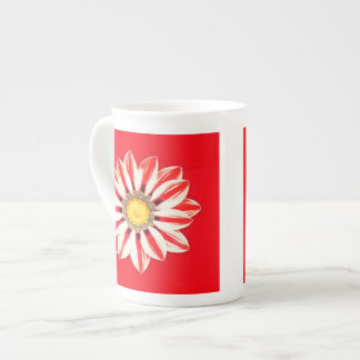 African Daisy / Gazania - Red and White Striped Tea Cup