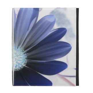 African Daisy Glowing Blue Ipad Case