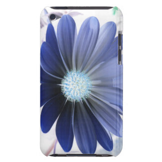 African Daisy Glowing Blue iPod Case