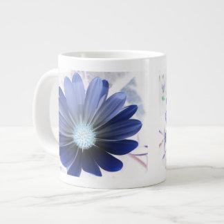 African Daisy Glowing Blue Mug