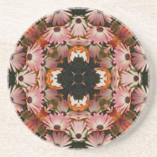 African Daisy Kaleidoscope Floral Coaster