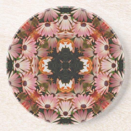 African Daisy Kaleidoscope Floral Coaster