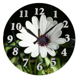 African Daisy Large Clock