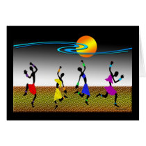 African Dance Card