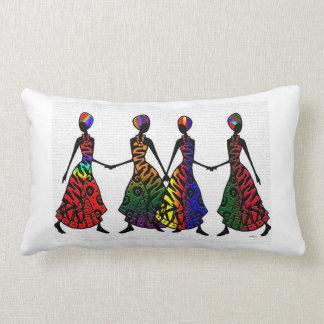 African Dance Of Sisterhood Throw Pillow