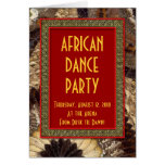 African Dance Party Invitation Card Butterfly Wing