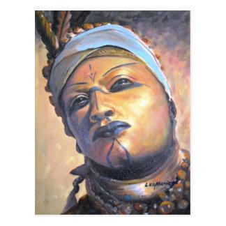 African dancer - by LEOMARIANO artist Postcard
