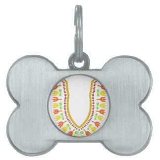 African Dashiki Boubou Necklace - Warm Pet ID Tag