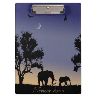 African dawn - elephants clipboard