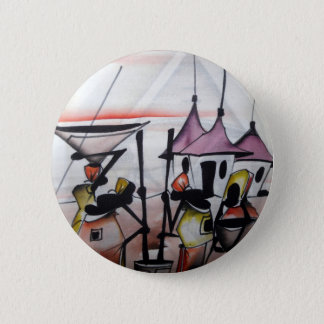 African Decor and Wear Pinback Button